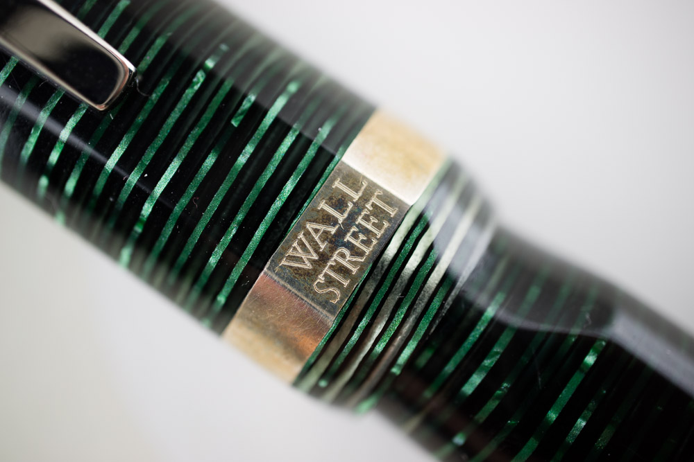 Visconti Wall Street Green Pearl Limited Edition Cap branding