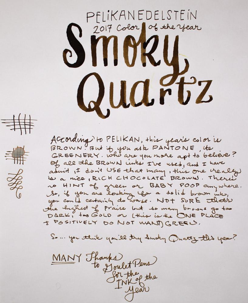 Pelikan Edelstein Smoky Quartz writing sample