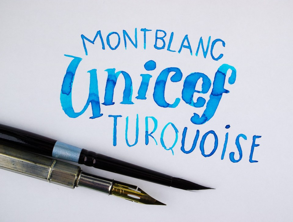 Ink Review: Montblanc UNICEF Turquoise