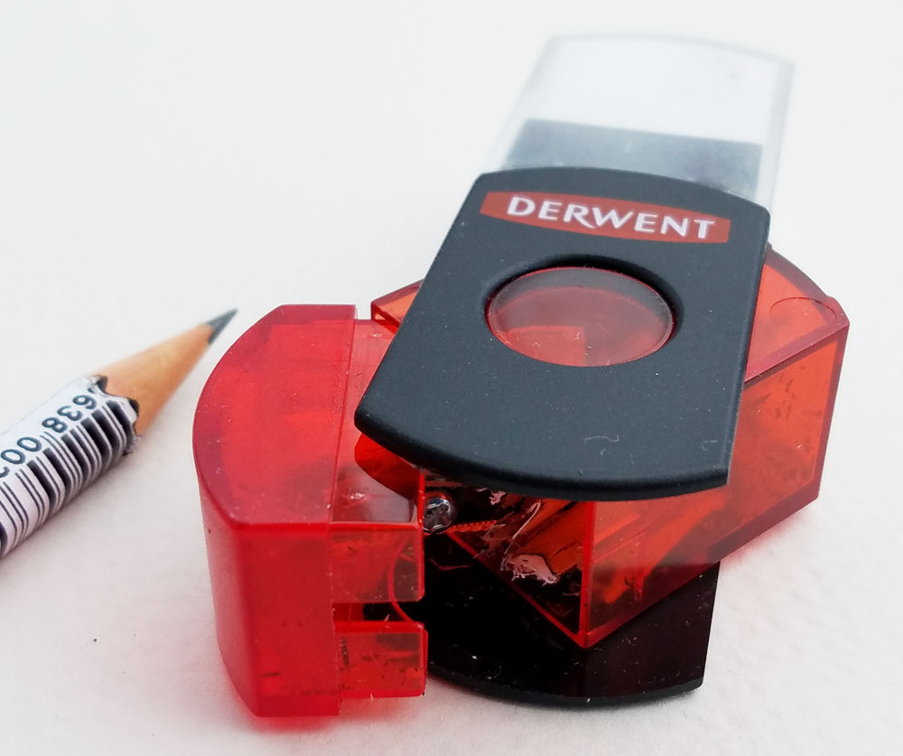 Derwent 2-in-1 sharpener opened
