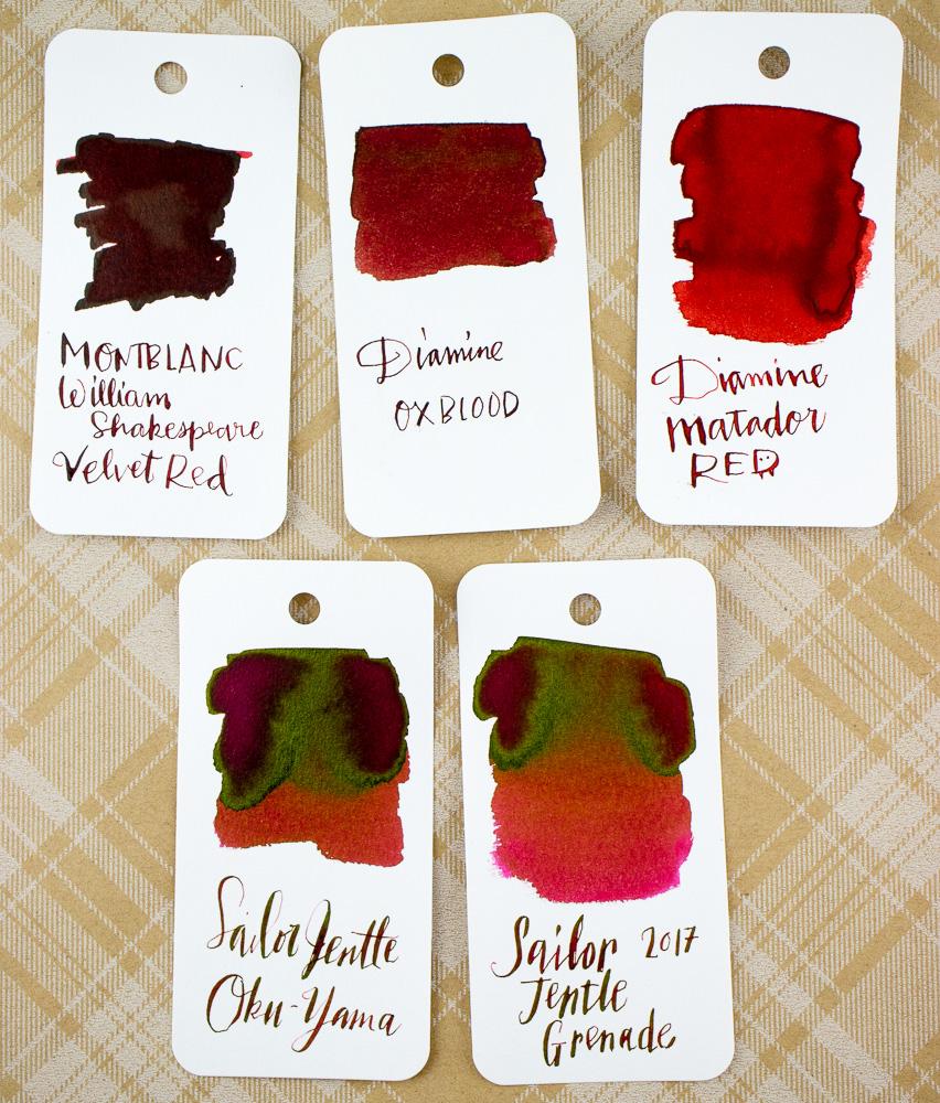 Montblanc Velvet Red Swatches