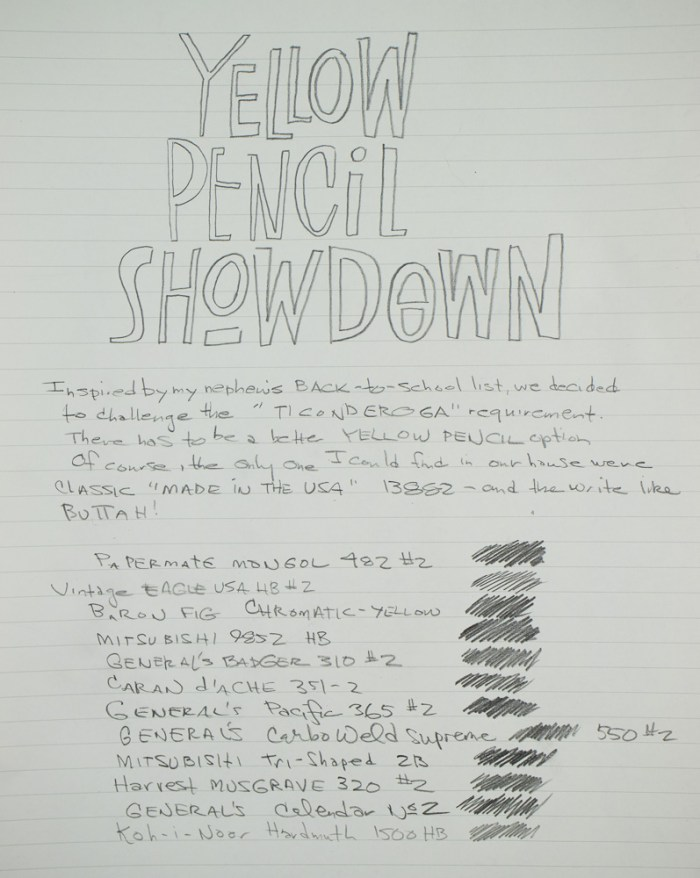 Yellow Pencil writing sample 1