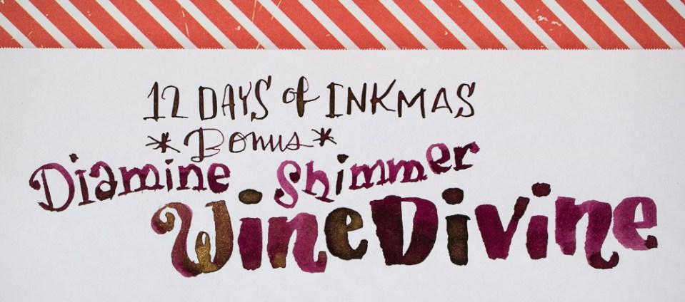 12 Days of Inkmas Bonus: Diamine Wine Divine