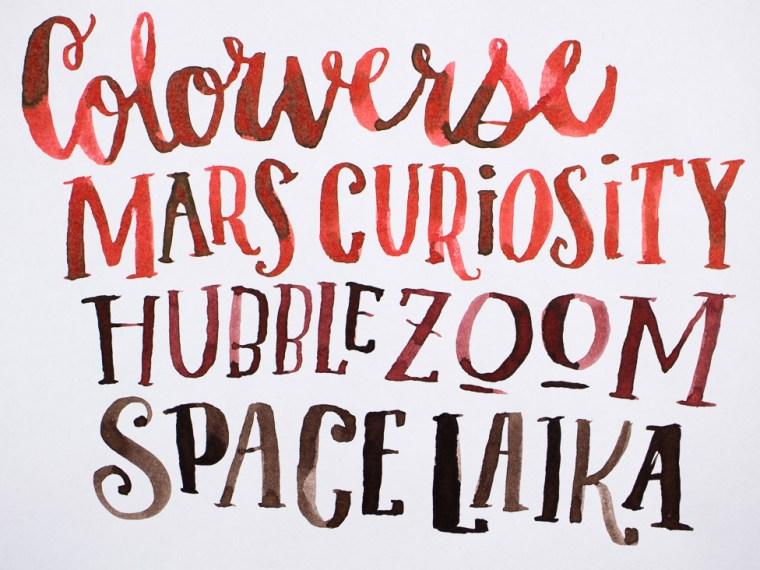 Ink Review: Colorverse Mars Curiosity, Hubble Zoom & Space Laika