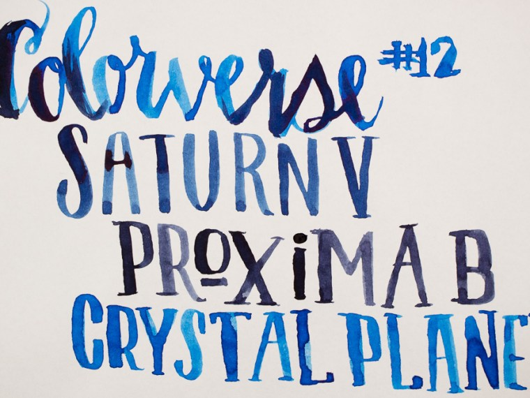 Ink Review: Colorverse Proxima B, Saturn V & Crystal Planet