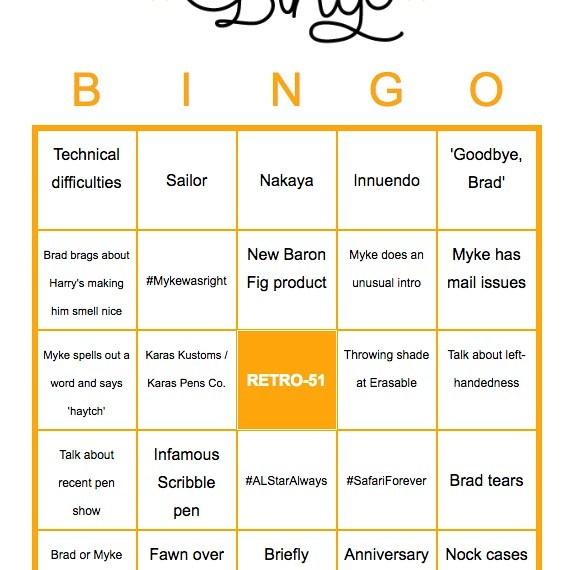 Pen Addict Bingo!
