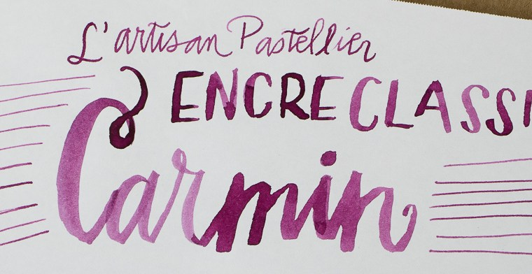 Ink Review: L'Artisan Pastellier Encre Classique Carmine