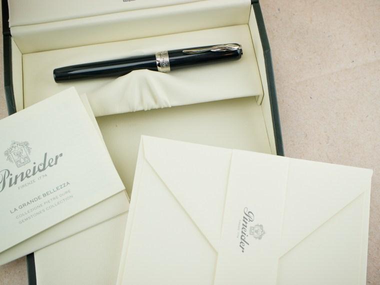 Fountain Pen Review: Pineider La Grande Bellezza Gemstone Hematite Grey Fountain Pen XF Quill Nib