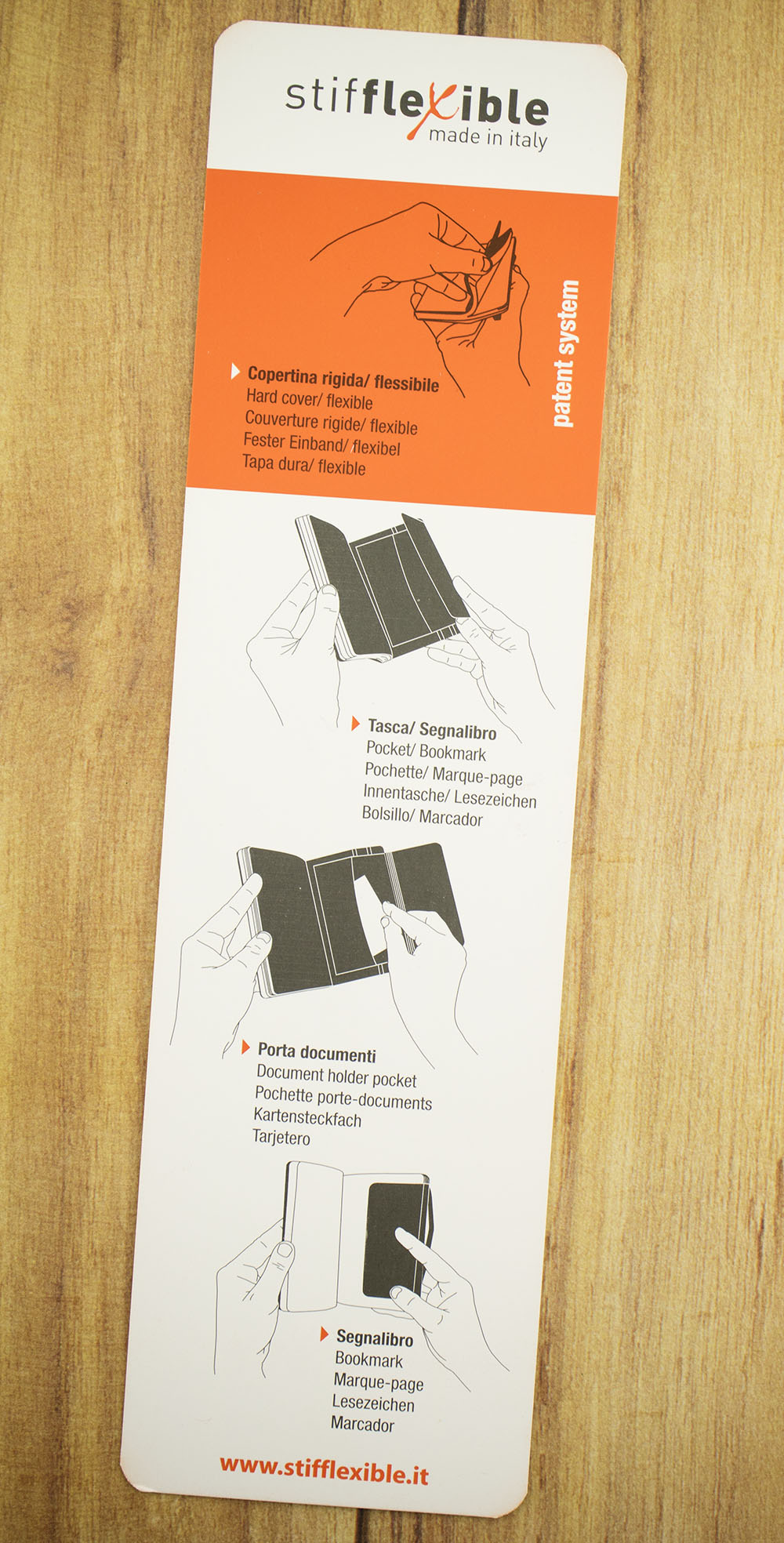 Stifflexible bookmark