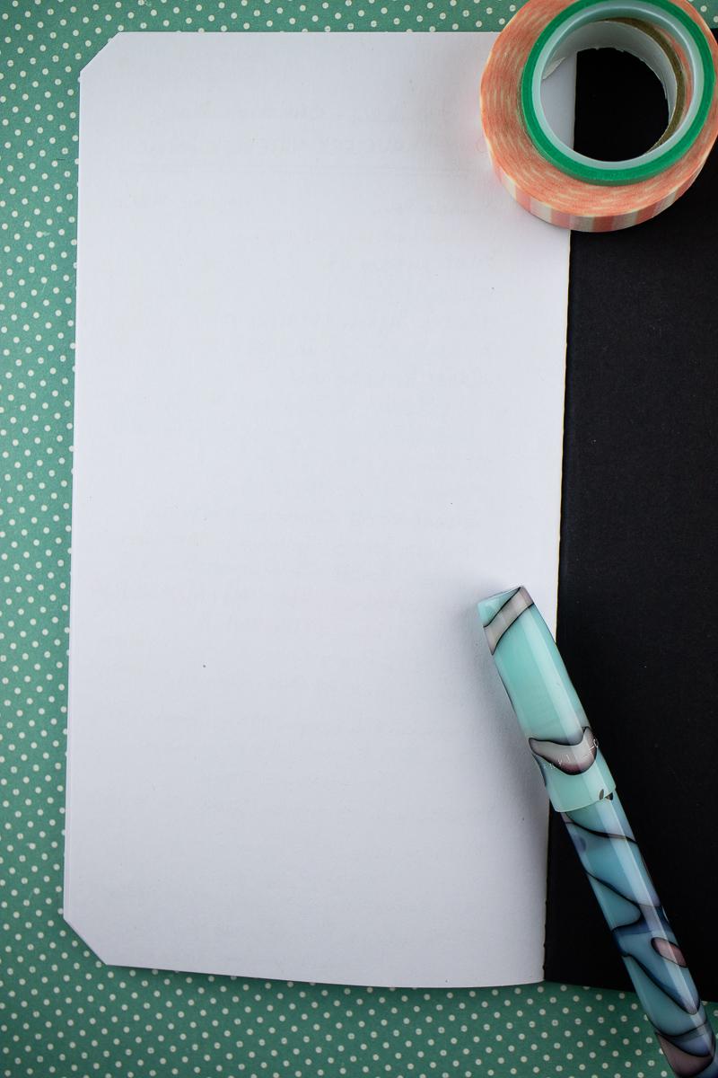Franklin-Christoph Vagabond Notebook reverse side of writing samples