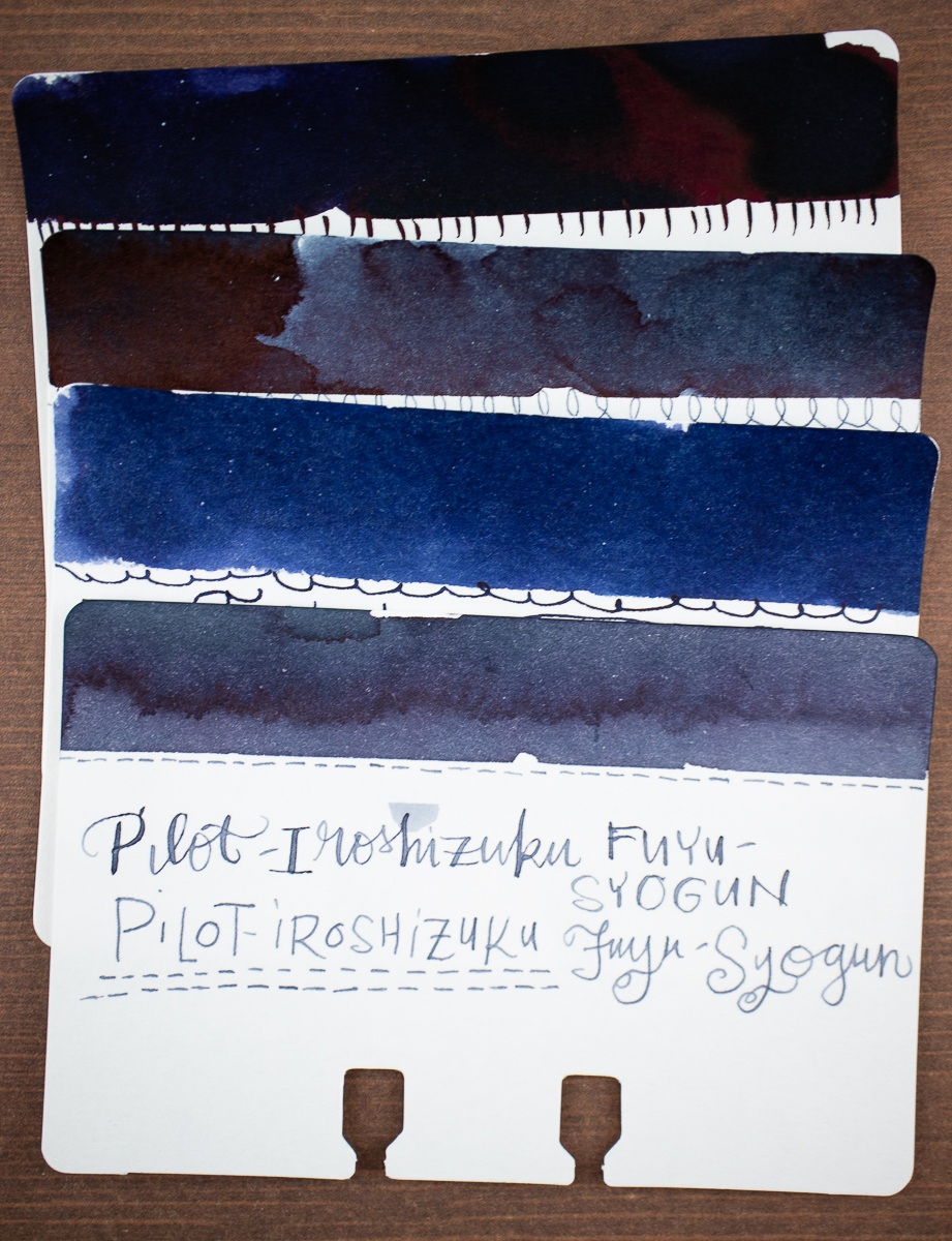 Taccia Aogura Blue Black comparison