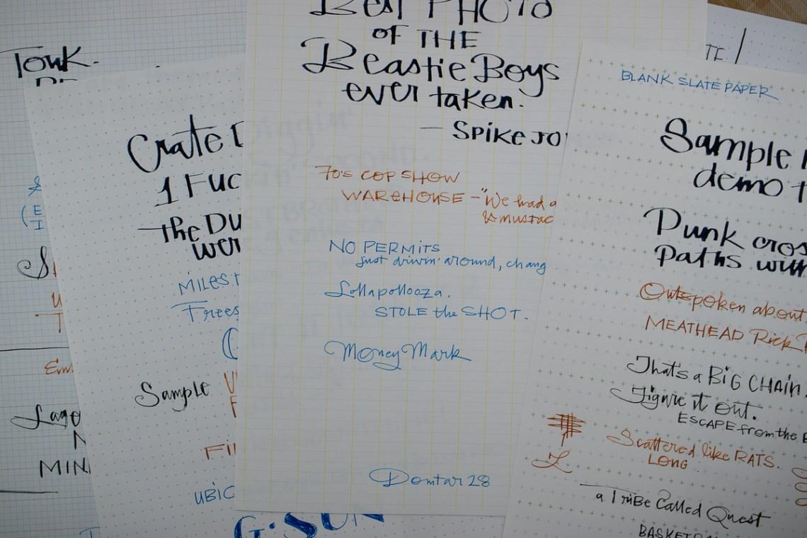 Blank Slate Paper writing