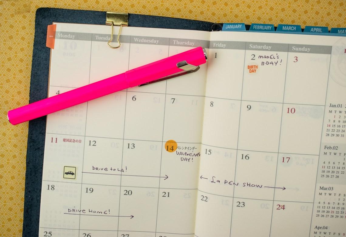 Traveler's Company 2019 Monthly Diary