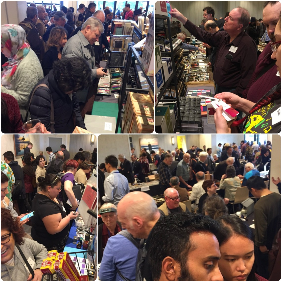 Crowds on Sunday at the LA Pen Show