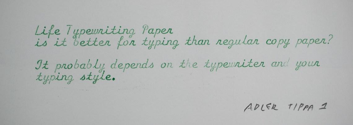 Life Typewriter Paper