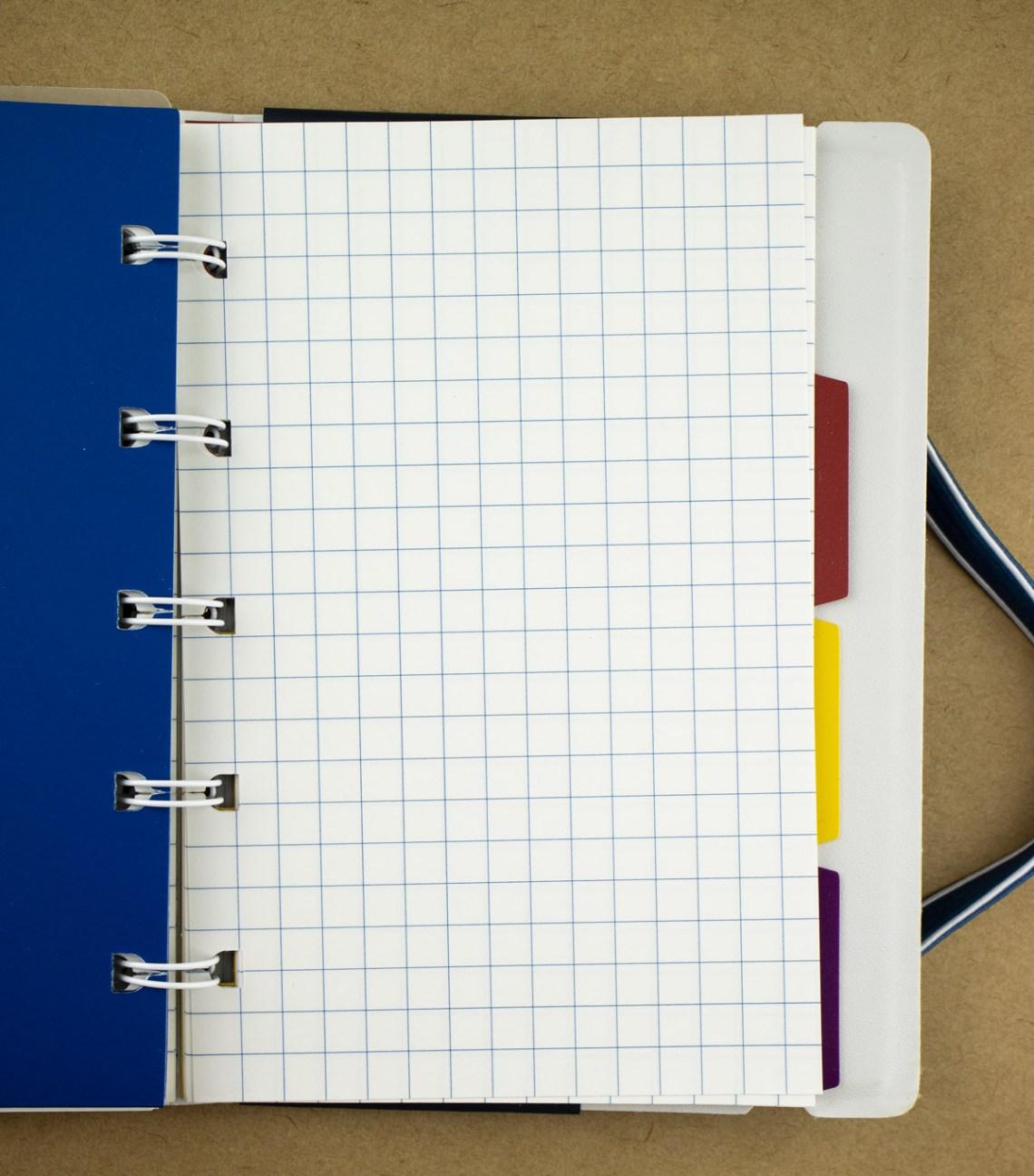 Filofax Impressions Notebook graph paper