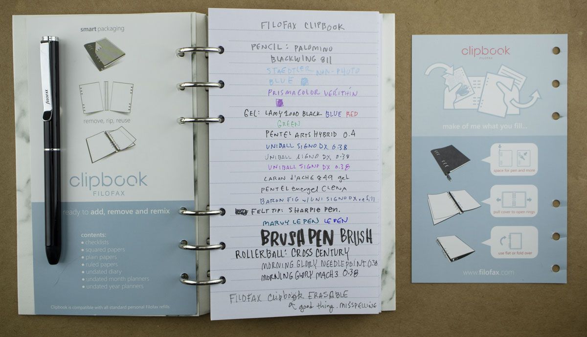 Review: Filofax Clipbook & Pen