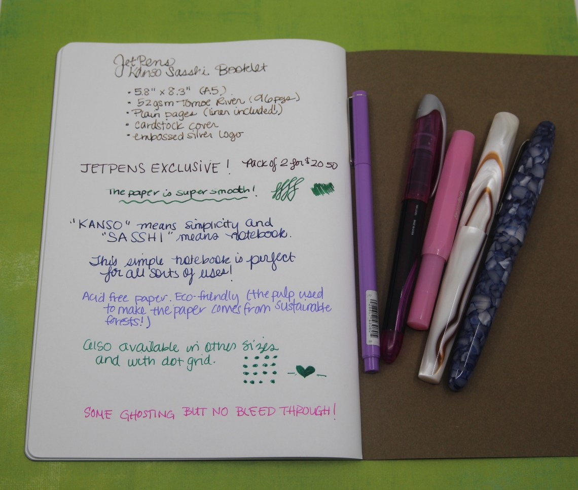 Notebook Review - JetPen's Kanso Sasshi Booklets - The Well