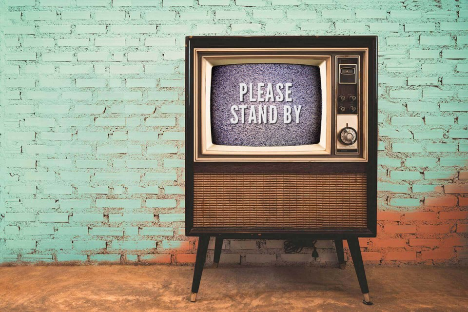 Please Stand By tv with static