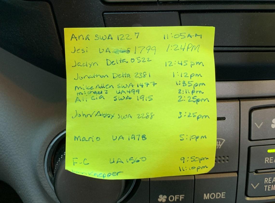 Kimberly's pick-up list
