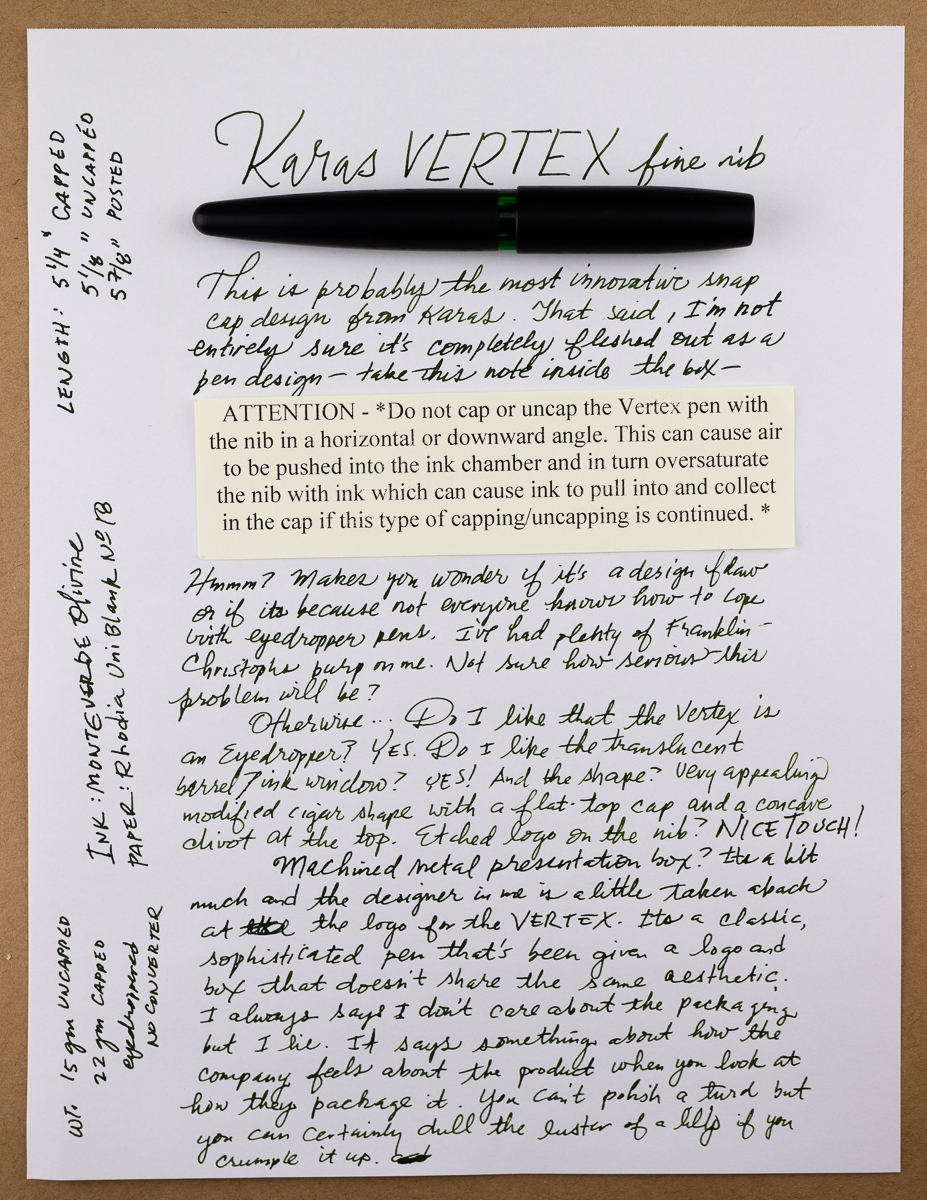 Karas Vertex writing sample