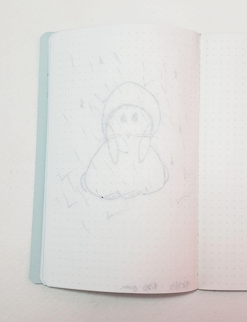 reverse of sketch
