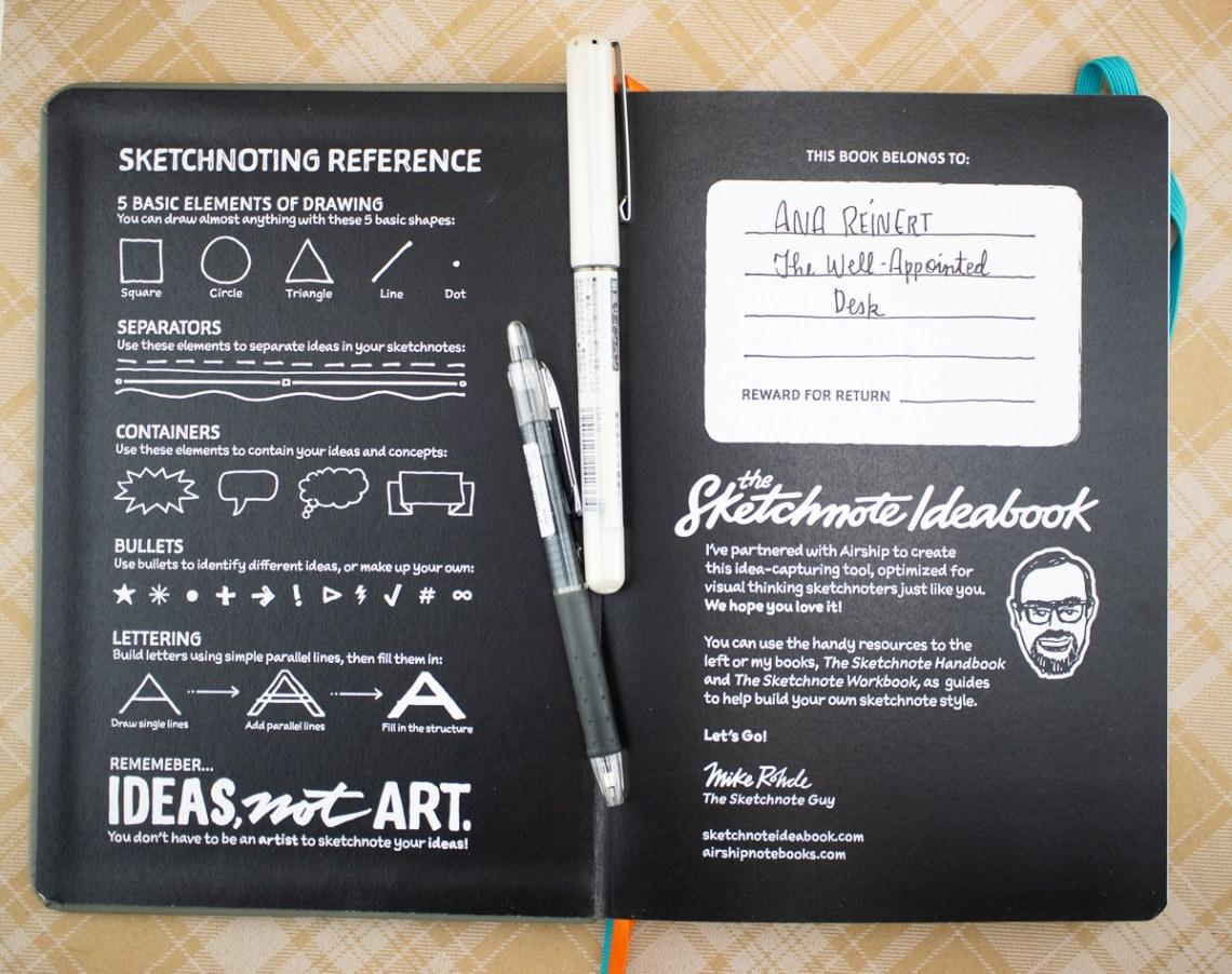 Sketchnote Notebook inside cover