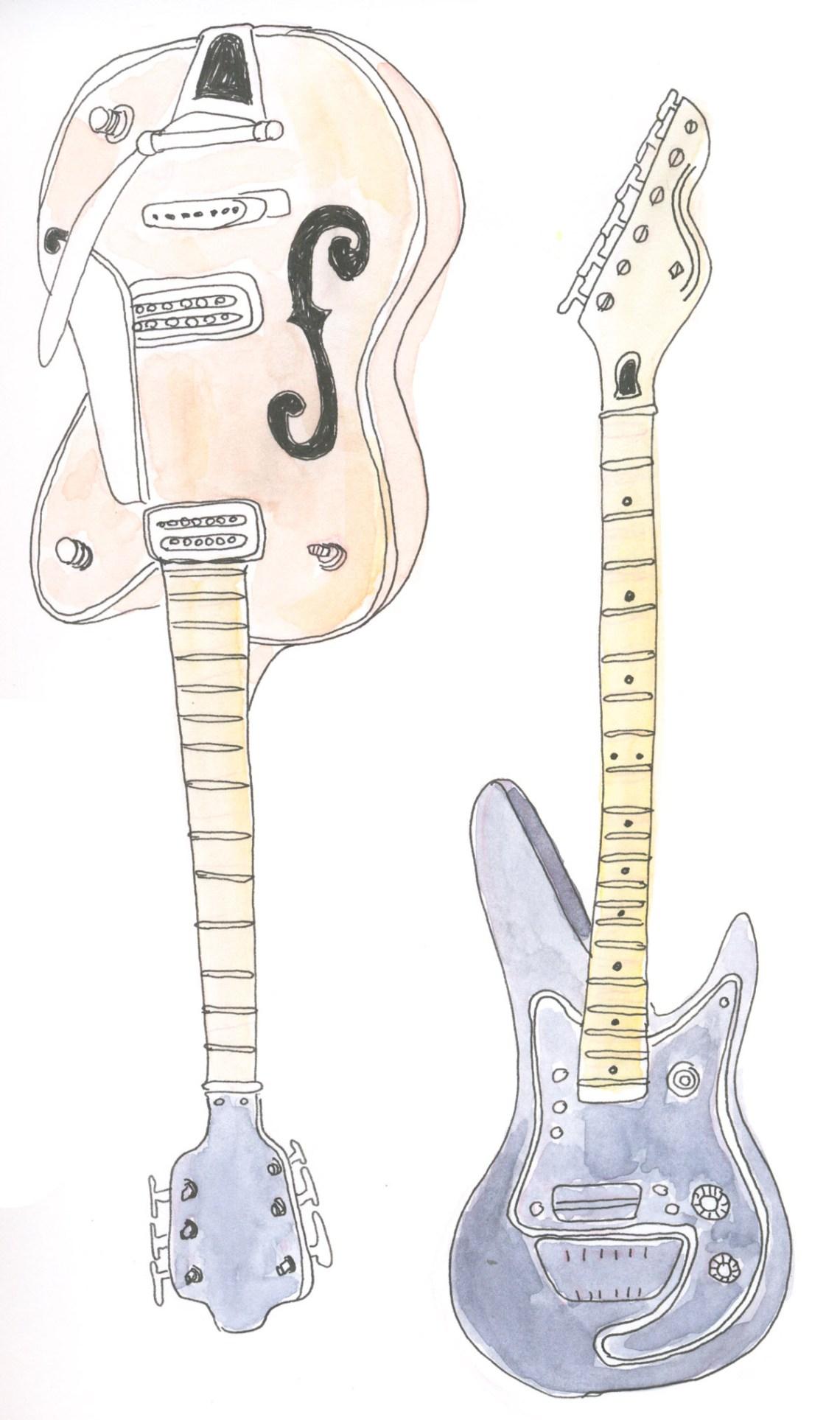 Inktober 2019 - Guitars