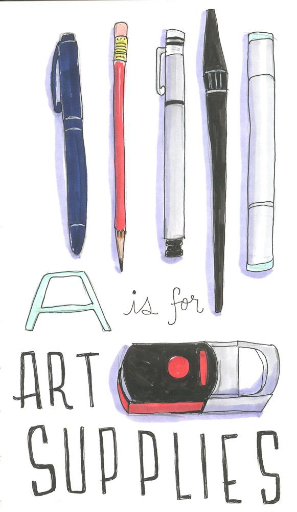 Inktober 2019 - Art Supplies
