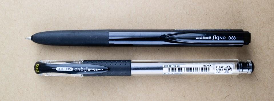 Pen Review: Signo RT1 vs Signo Needle