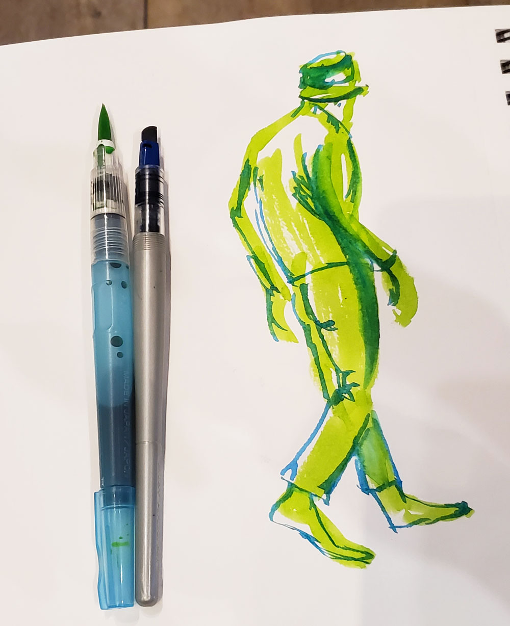 waterbrush and Parallel sketch