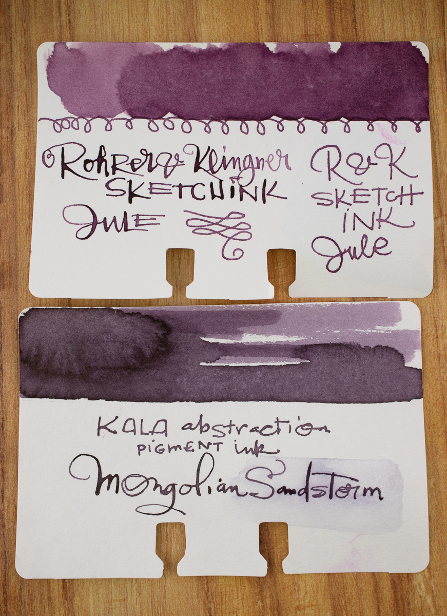 Kala Nostalgia Abstraction Mongolian Sandstorm swatch comparison