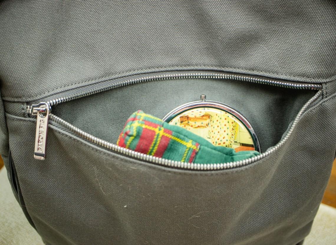 Baron Fig Venture Slimline Backpack front pocket