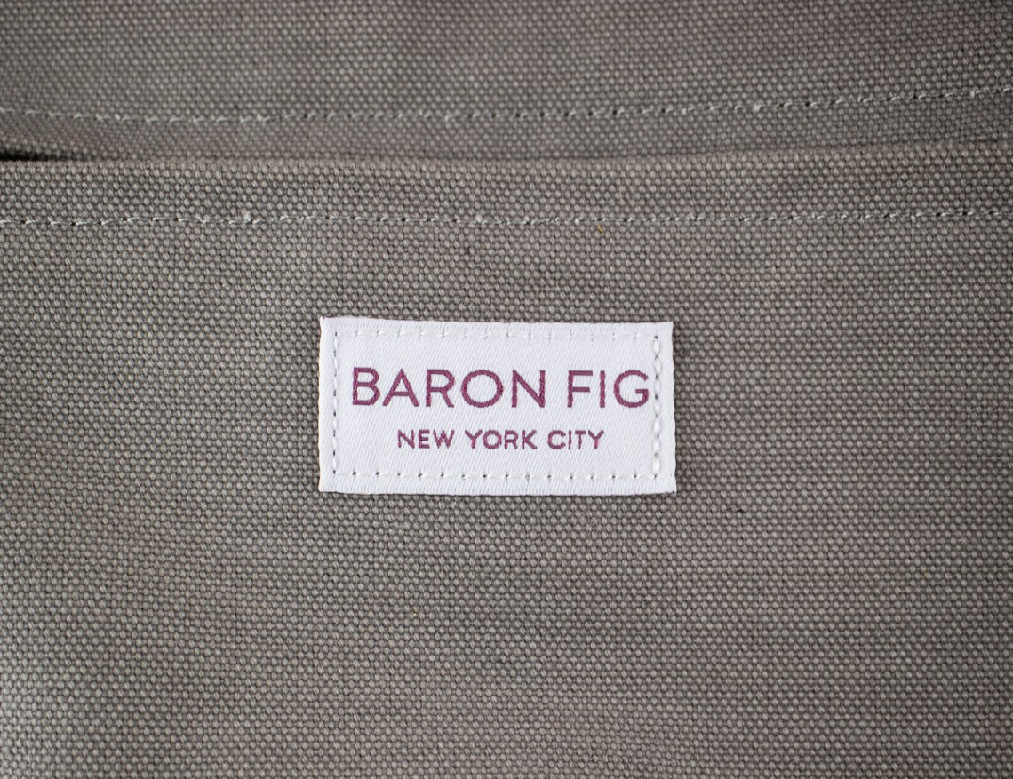 Baron Fig Kickstarter Slimline Backpack label