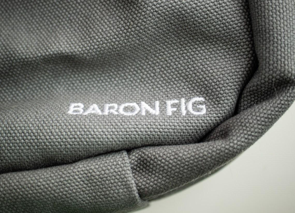 Baron Fig Venture Slimline Backpack embroidered logo