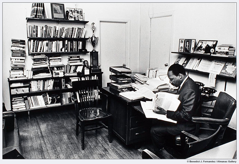 MLK in his office