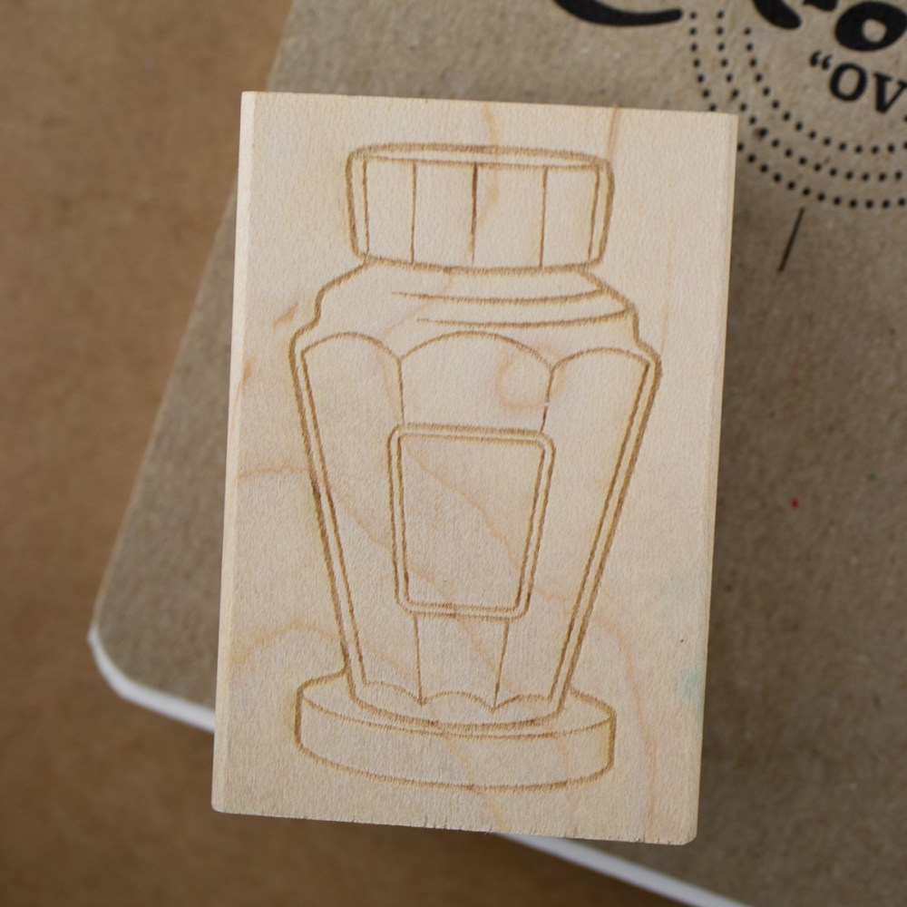 tall bottle stamp art block