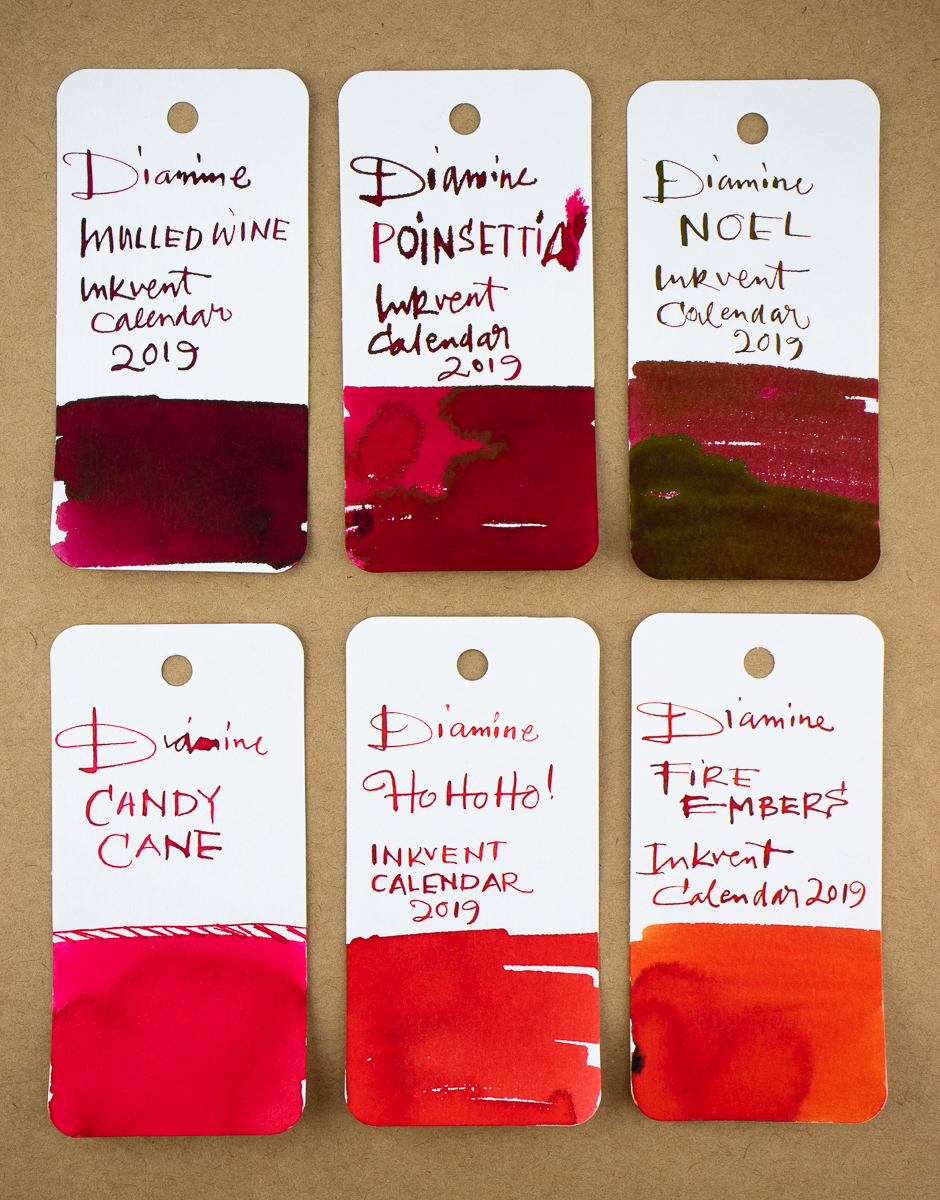 inkvent swatches reds