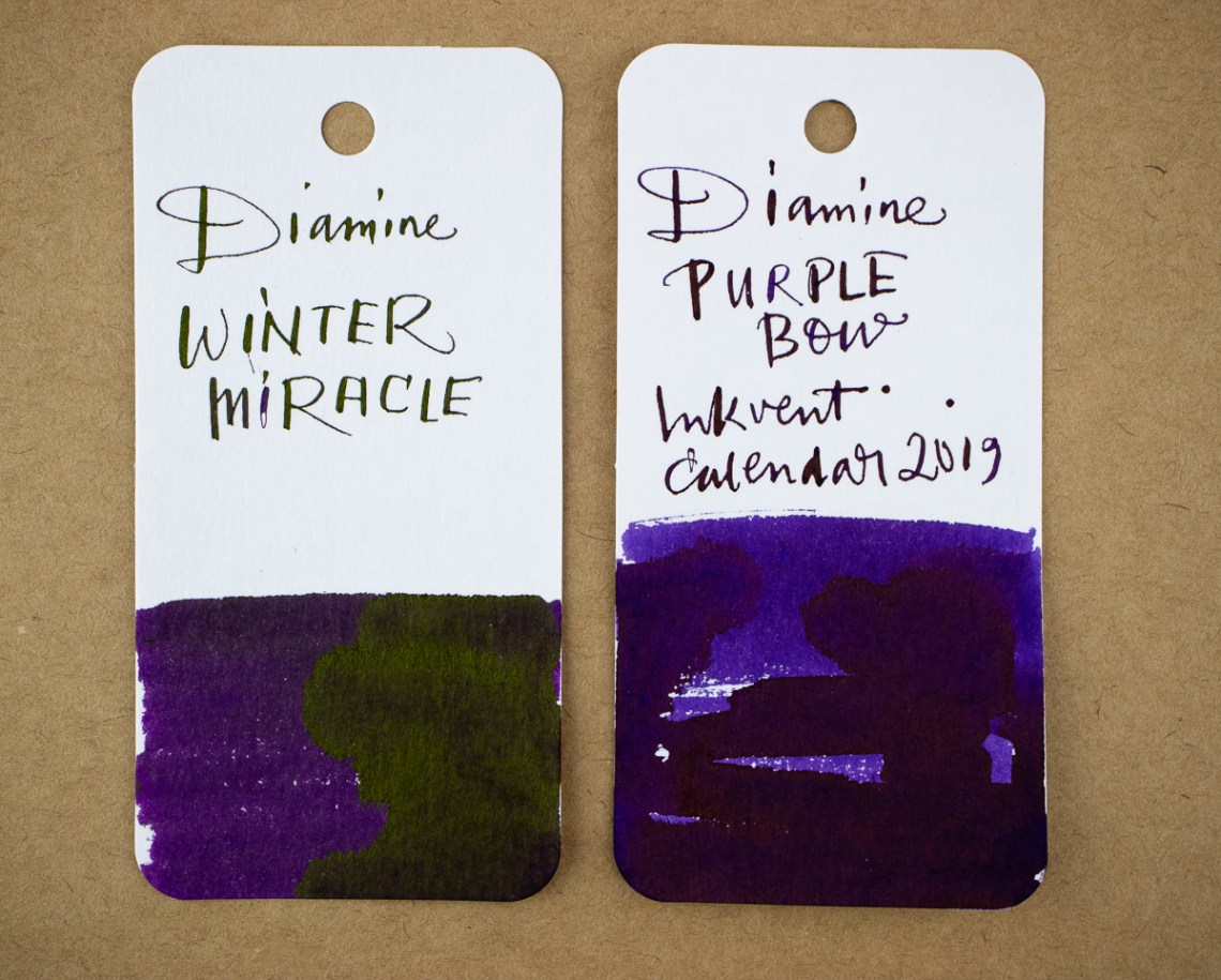 inkvent swatches violets
