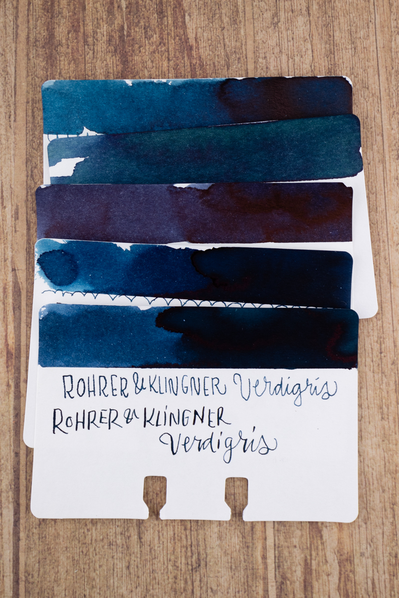 Sheaffer Ink Overview: Blue-Black ink comparison swatches