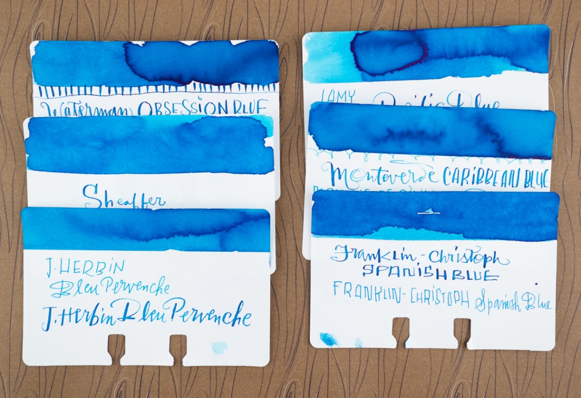 Waterman Inspired Blue comparison