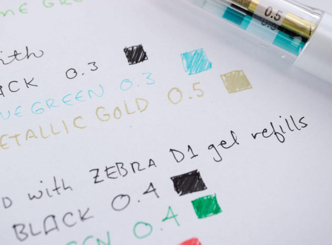 Zebra Sarasa Writing Sample
