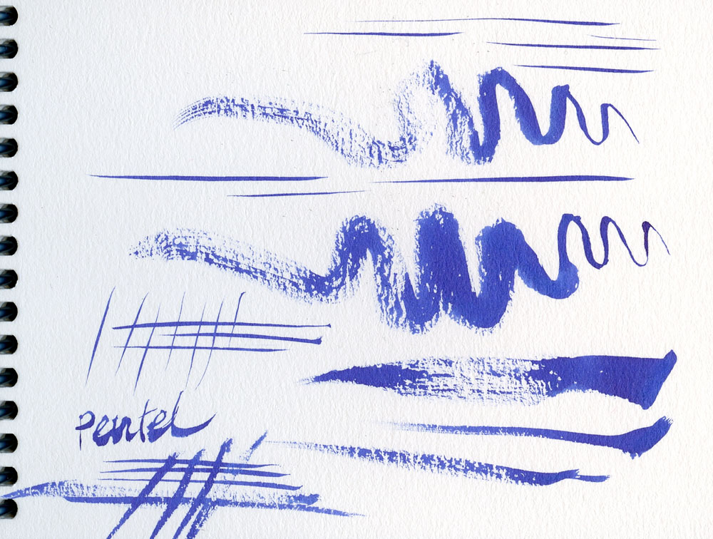 3 - Pentel Menso brush strokes - scan