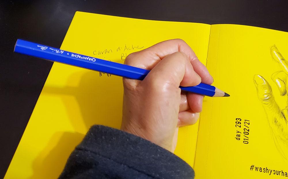 4 - Klein Blue Maxi in hand