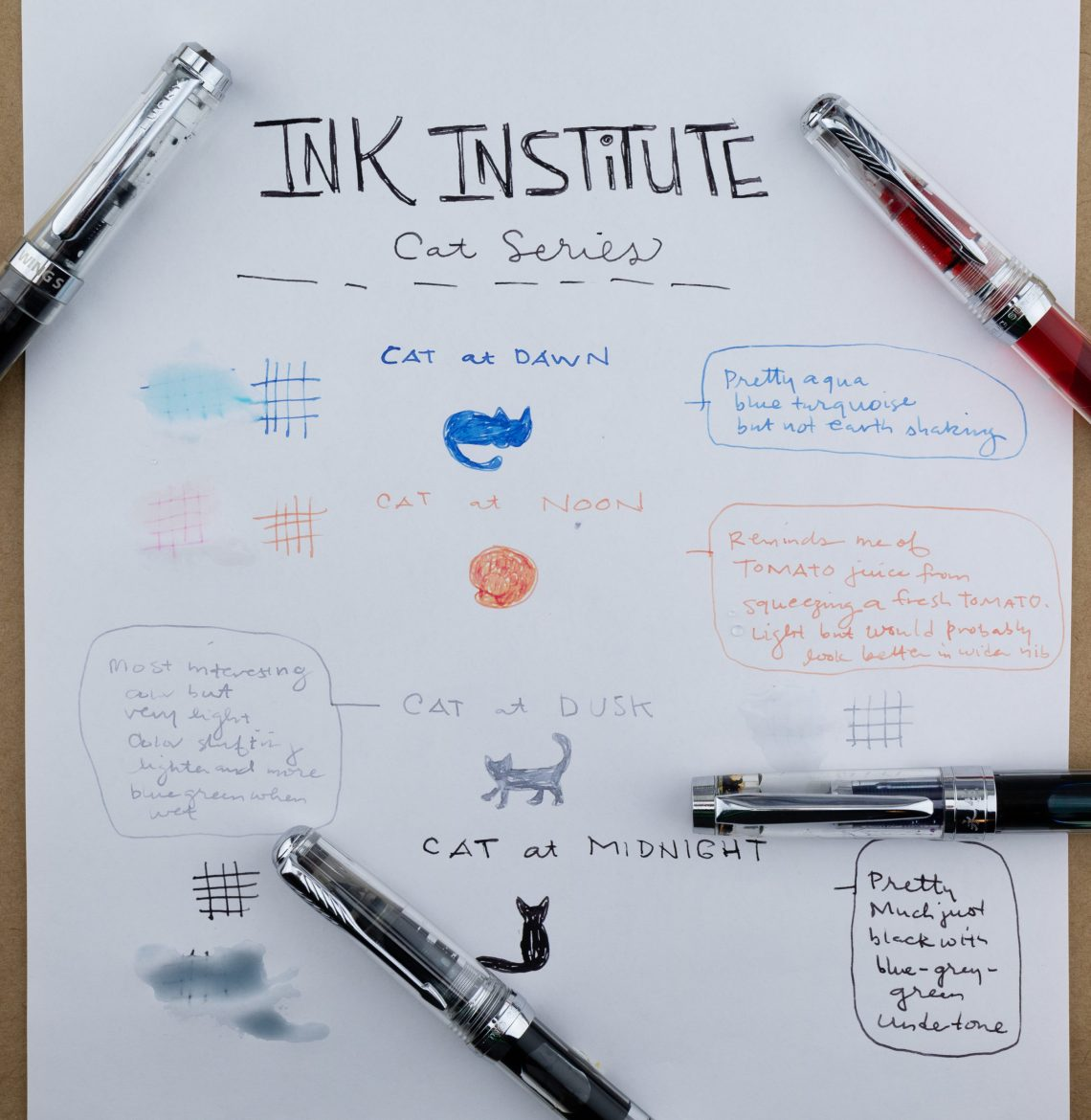 Ink Institute Cat Series
