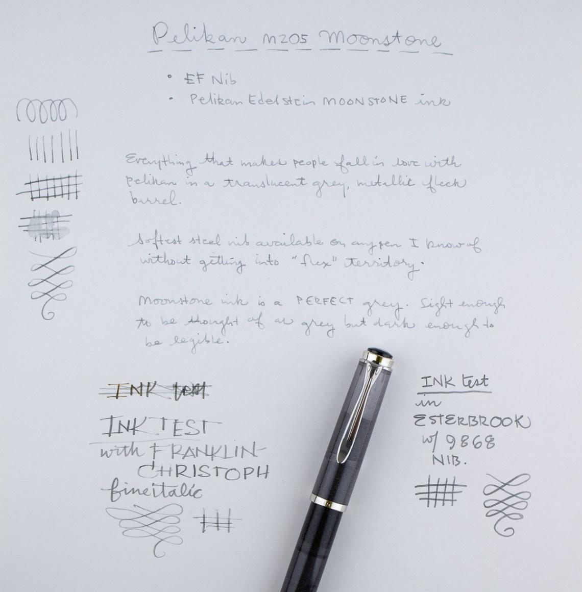 Pelikan M205 EF writing