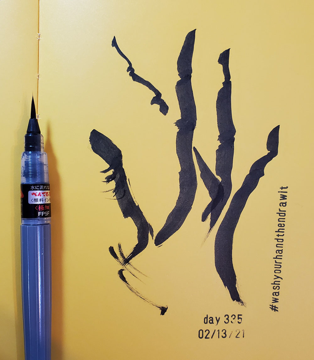 Pentel with sketch