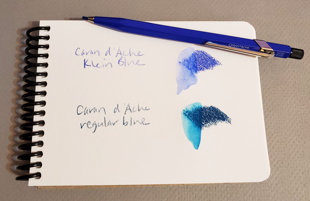 Cd'A Klein Blue and regular blue comparison