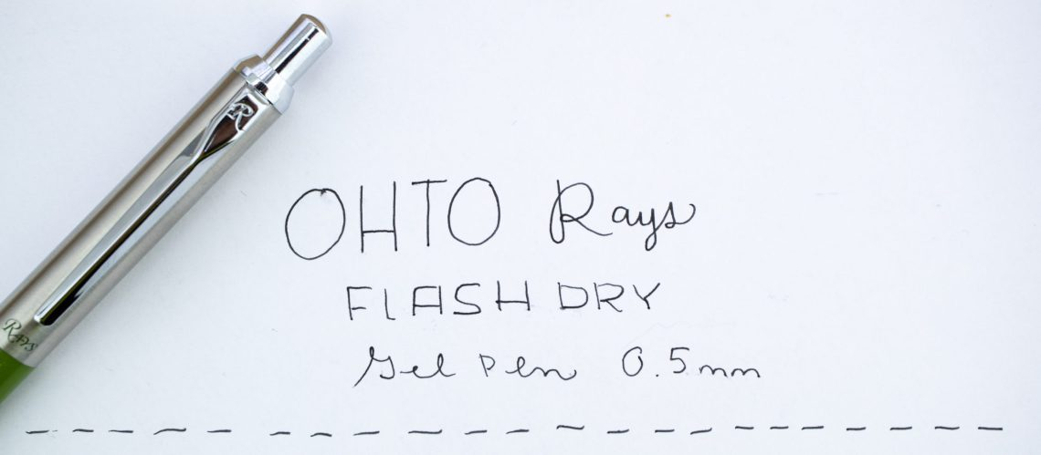Ohto Rays Flash Dry Gel Pen in Olive