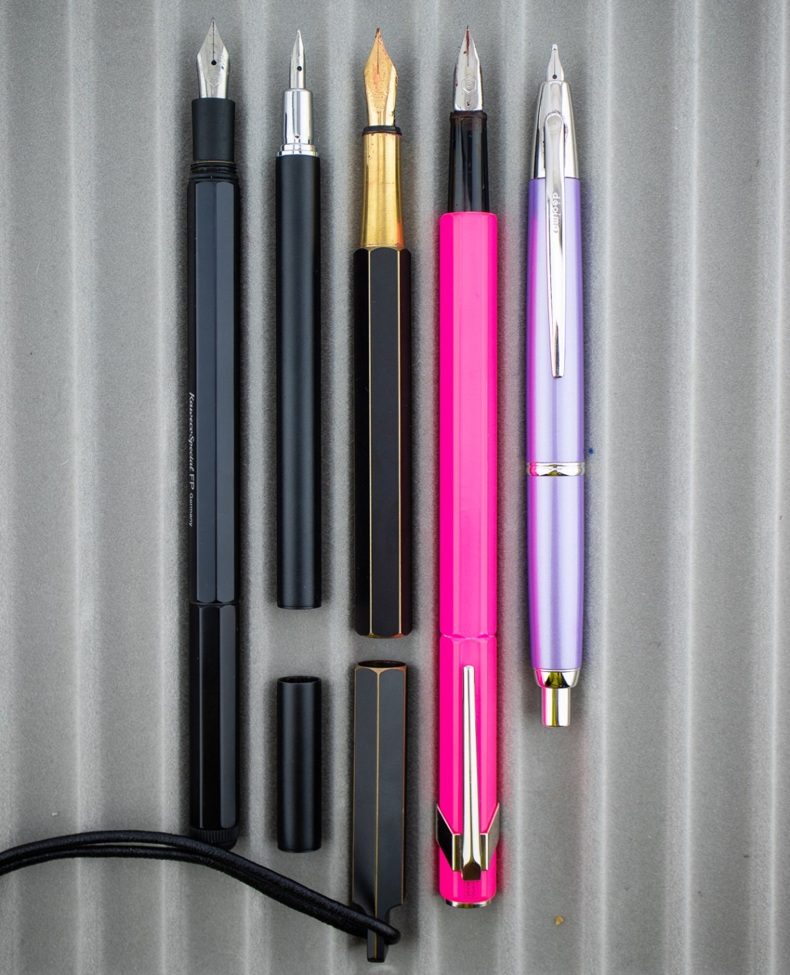 Meister by Point Slim Liner Fountain Pen (Black, Medium Nib)